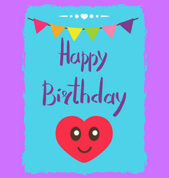 Beauty happy birthday card vector