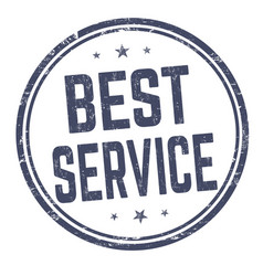 best service sign or stamp vector image