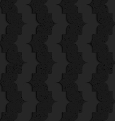 Black textured plastic vertical pointy waves vector