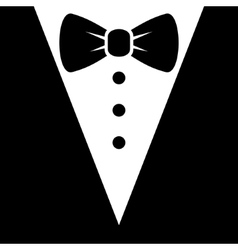Bow Tie and Black Suit Icon vector image