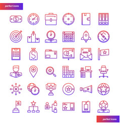 business element gradient icons set vector image