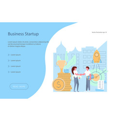 business start-up banner design template vector image