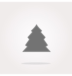 button with christmas tree on it Web Icon vector image