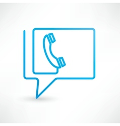 Call Us Bubbles icon vector image