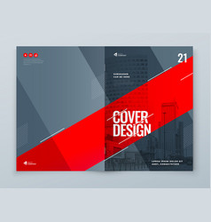 catalog template layout design corporate business vector image