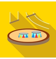 Circus arena icon flat style vector