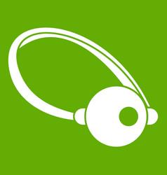 Clown nose icon green vector