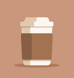 coffee cup plastic or paper vector image
