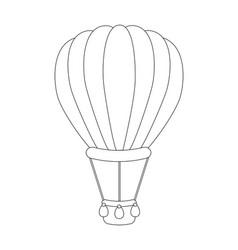 Colorless cartoon air balloon vector