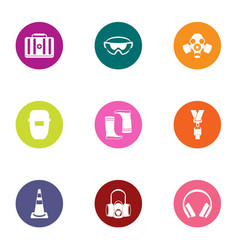 construction medical icons set flat style vector image