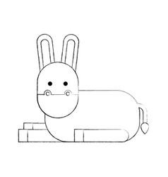Cute donkey cute cartoon manger image vector