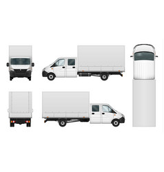 delivery van template on white vector image