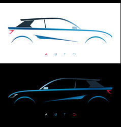 design blue car concept car vector image