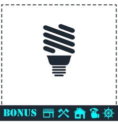 ECO energy lamp icon flat vector