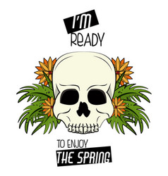 Enjoy the spring print for tshirt vector
