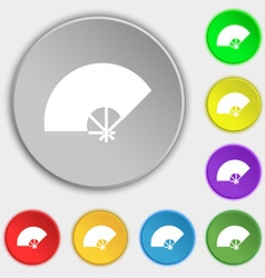 Fan icon sign Symbol on eight flat buttons vector image
