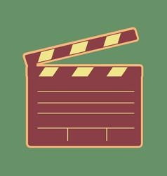 Film clap board cinema sign cordovan icon vector