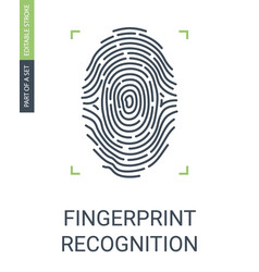 fingerprint recognition or biometric data access vector image
