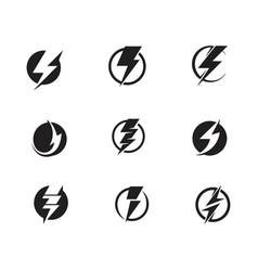 Flash thunderbolt template icon vector