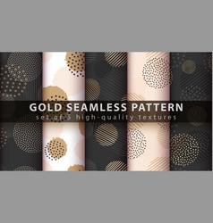 Gold glitter - set seamless pattern vector