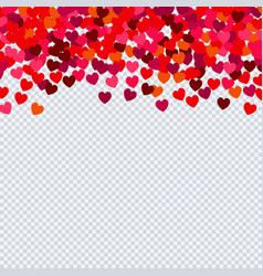 heart confetti for valentines day on transparent vector image