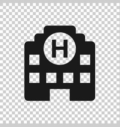 hospital building icon in transparent style vector image