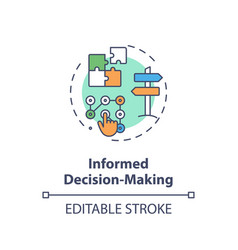 Informed decision making concept icon vector