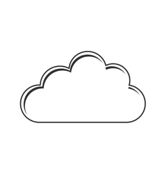 Isolated cloud of weather design vector image