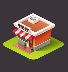 Isometric store icon vector