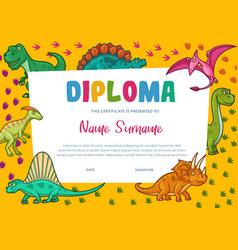 Kids diploma certificate template education award vector