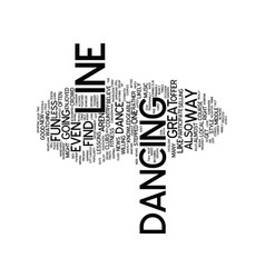Learn how to line dance text background word vector