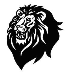 Lion head beast roaring logo vector