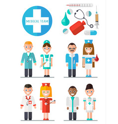 medical team set vector image