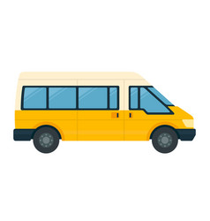minibus for passengers with luggage icon flat vector image