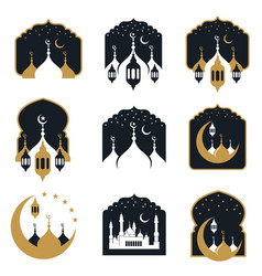 mosque set vector image
