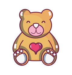 nice teddy bear toy to game vector image