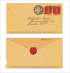 old envelope vector image