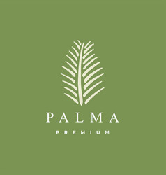 palm leaf logo icon vector image