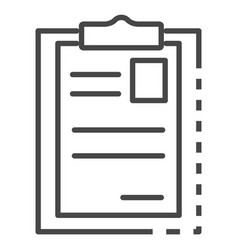 paper holder icon outline style vector image