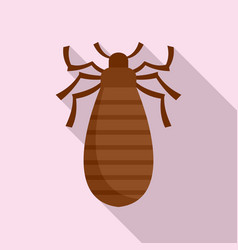 Pest bug icon flat style vector