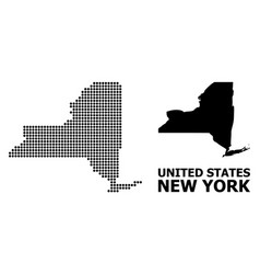 Pixelated pattern map new york state vector