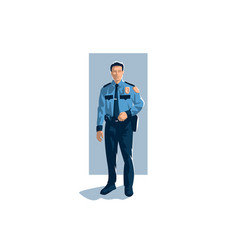 policeman in trousers shirt and tie vector image