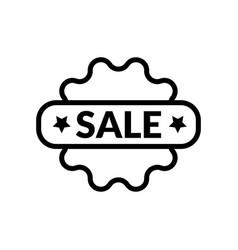 sale- black linear sale symbol icon vector image