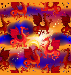 seamless pattern ornament with fantastic eastern vector image