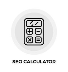 SEO Calculator Line Icon vector