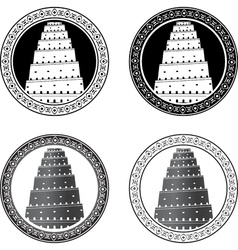 set of towers of babel vector image