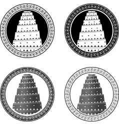 Set towers babel vector