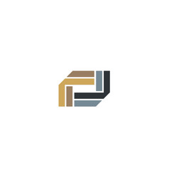 Shape geometry abstract business logo vector