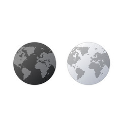 simple globe shape world map created from dots on vector image