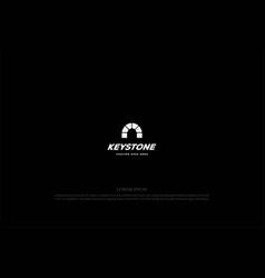 simple minimalist rustic keystone brick logo vector image